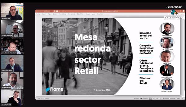 Foto mesa redonda retail Flame analytics