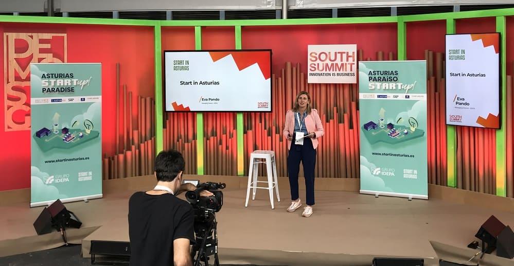 Intervención de Eva Pando, presidenta de SRP, en South Summit 2021 (créditos: SRP)